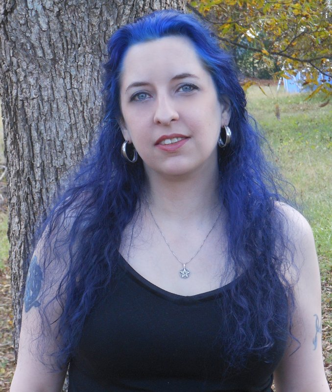 Briana Blair with blue hair 1 - © Briana Blair