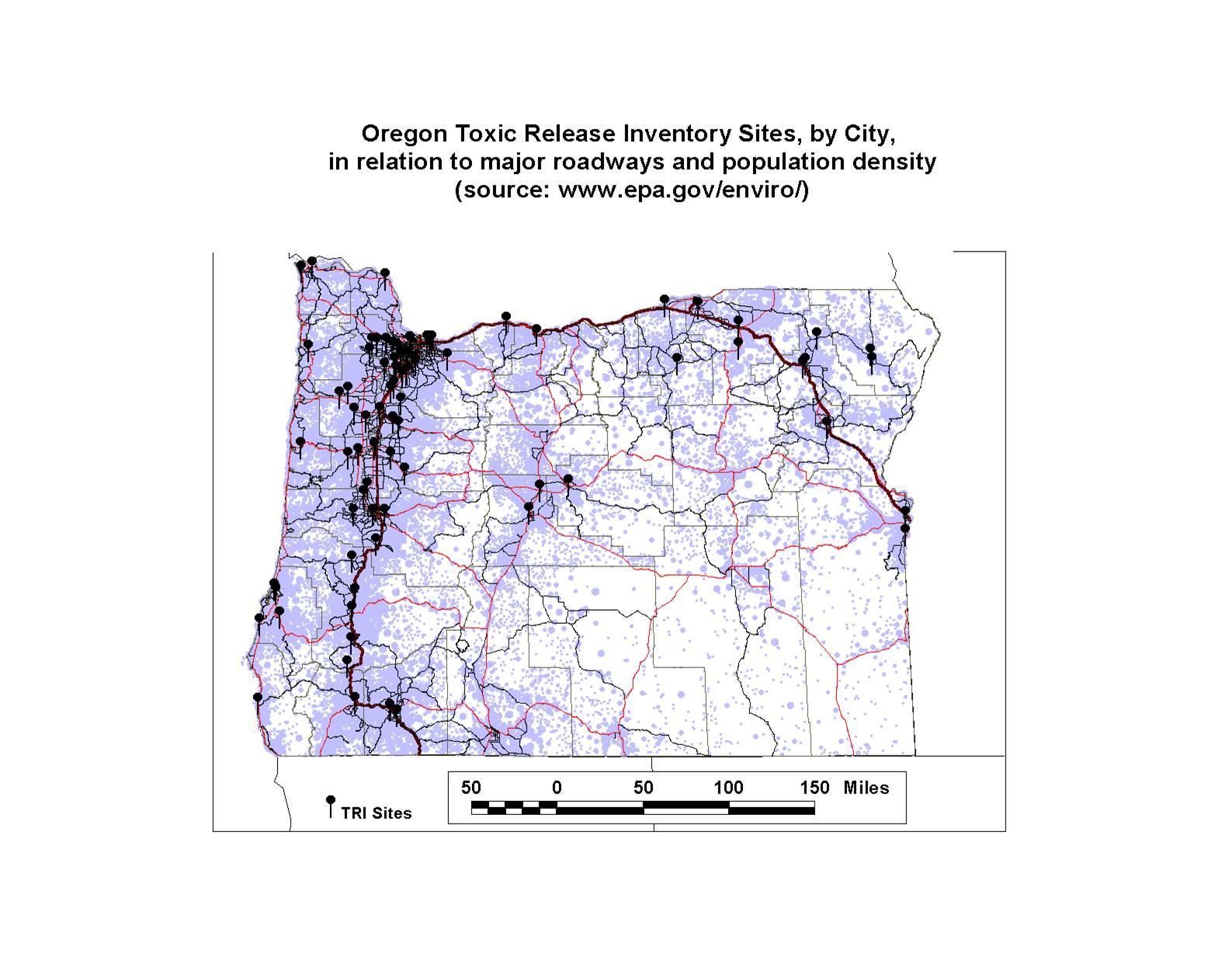 Oregon Sites based on a National Internet Data Source