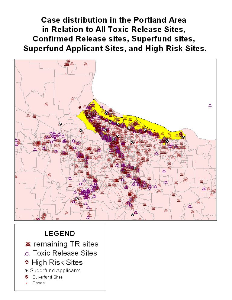 Confirmed Release Inventory (CRI), High Risk, Superfund Applicant and Superfund Sites
