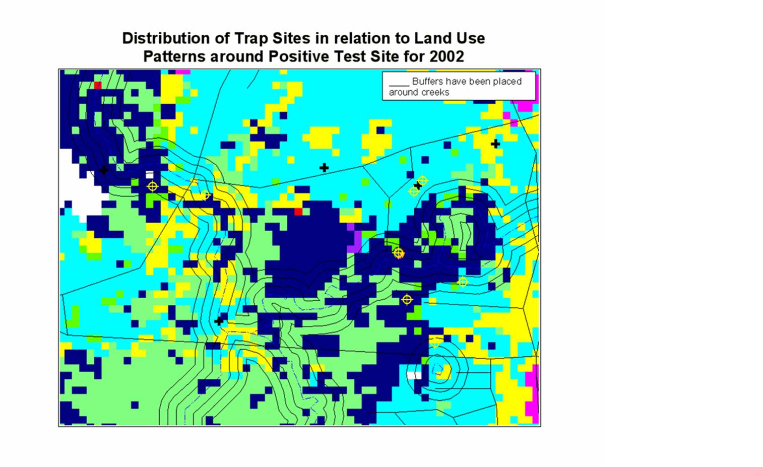NLCD Interpretation of Land Use for the Positive Test site of 2002,2003