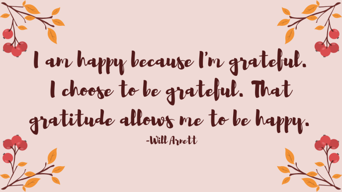 A Gratitude Quote by Will Arnett