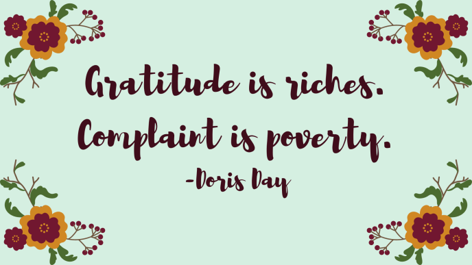 Gratitude Quote by Doris Day