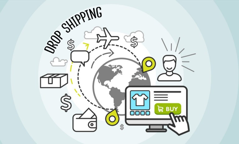 dropshipping flowchart graphic