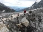 rando sur le glacier blanc