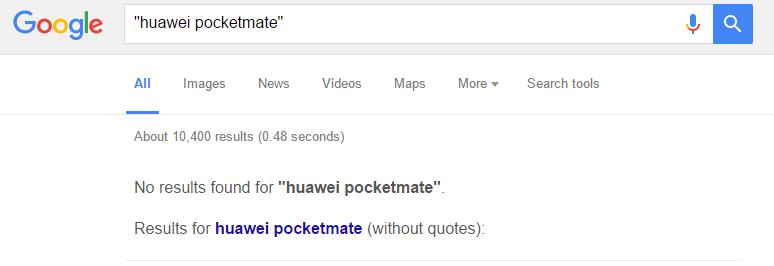 Huawei Pocketmate Google