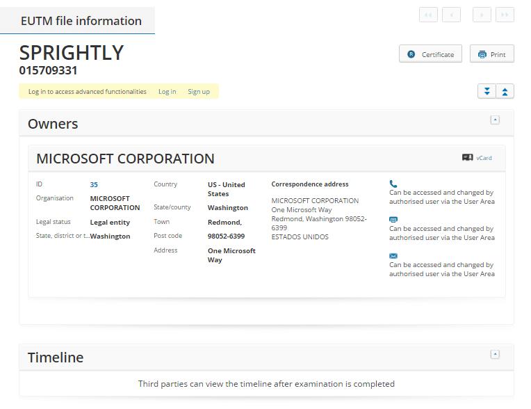 Microsoft Sprightly