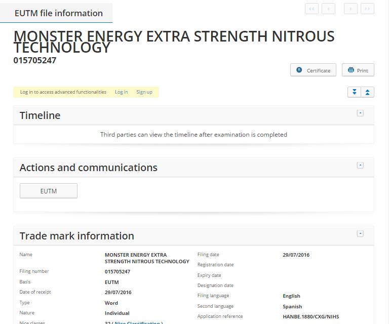 Monster Energy Extra Strength Nitrous Technology
