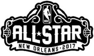 NBA all star new orleans 2017 trademark logo1