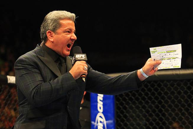 As always, Bruce Buffer will be ready to work tonight's Chicago crowd into a frenzy.