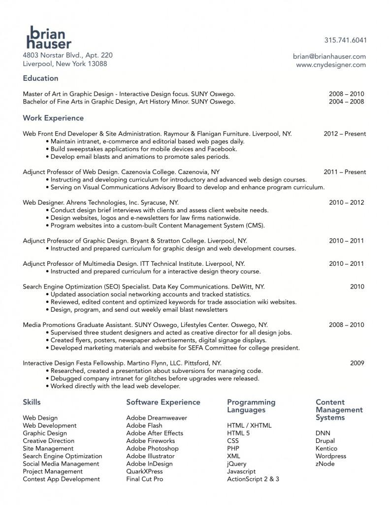website designer resume resume resume templates and web designer