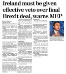 170317 Ireland mist be given effective veto over final brexit deal