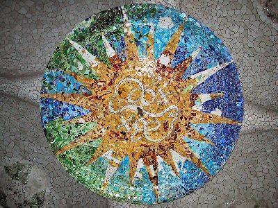 Antoni Gaudi Sun or Star Mosaic