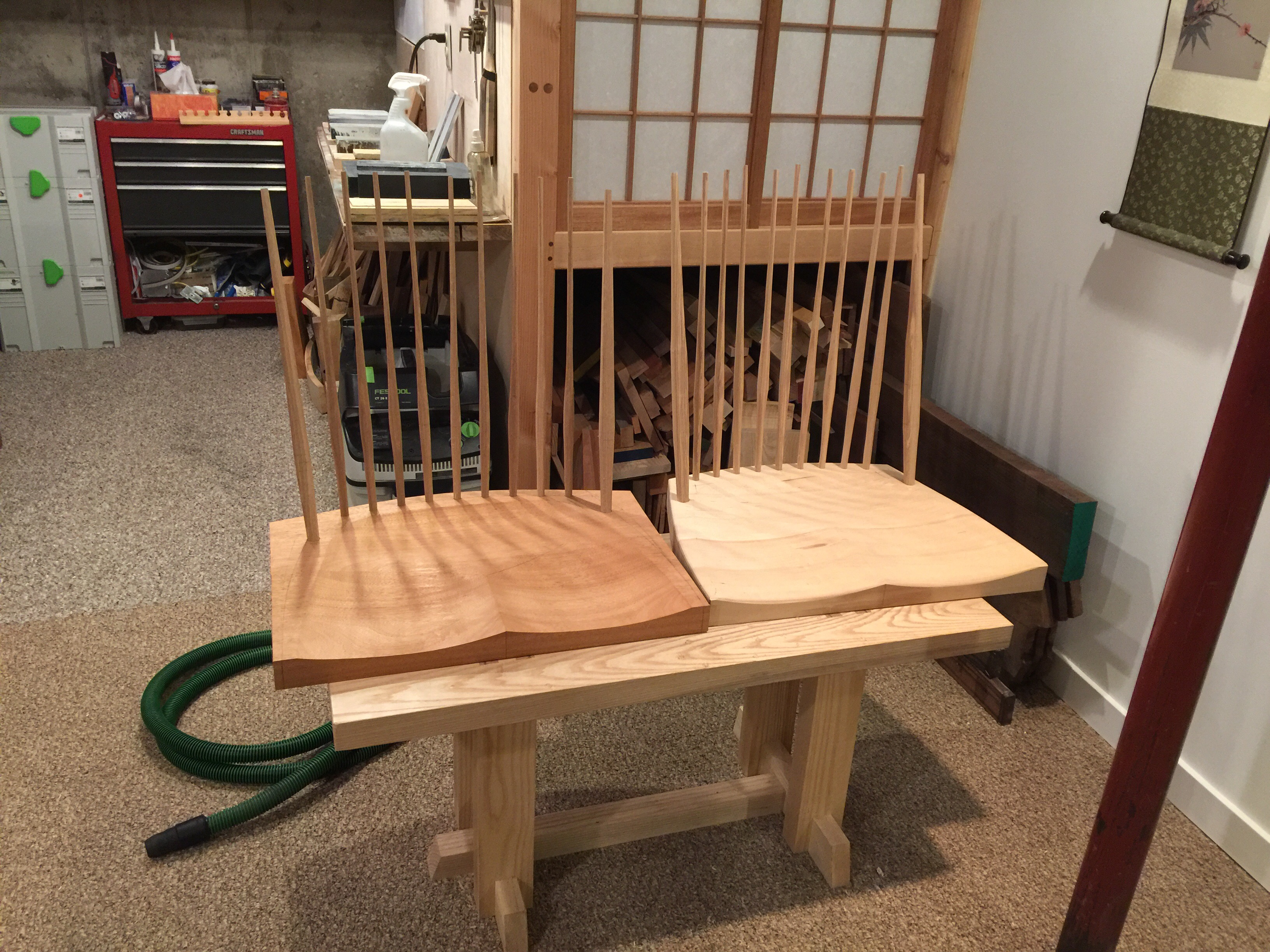 Once The Comb Is Installed And I Can See How The Spindles Arch, I Will  Further Fine Tune Them, Along With The Posts. The Spindles Are Very Near To  Their ...