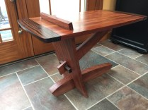 Bubinga macassar ebony side table
