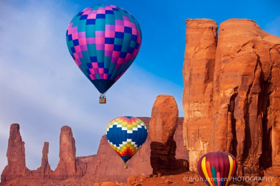 Hot Air Balloons Monument Valley Arizona