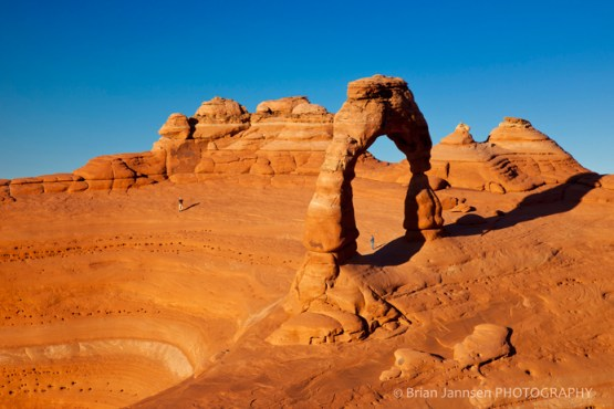 Delicate Arch at sunset Arches National Park