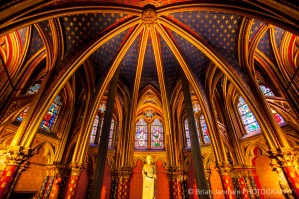 Interior lower chapel Sainte Chapelle Paris France