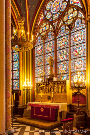 Chapel Notre Dame Cathedral Paris France