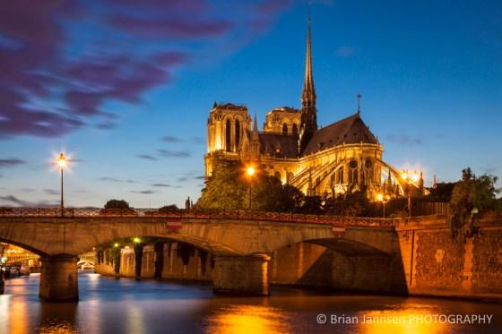 Paris France Cathedral Notre Dame River Seine