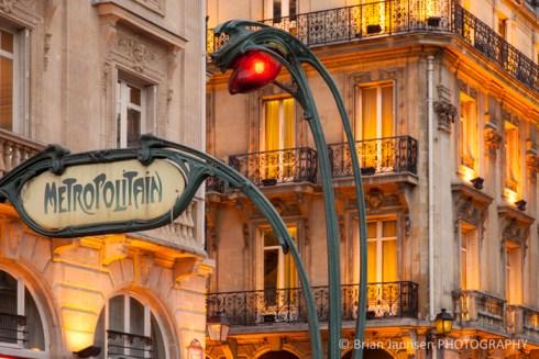 Metro stop Saint Michel Latin Quarter Paris France