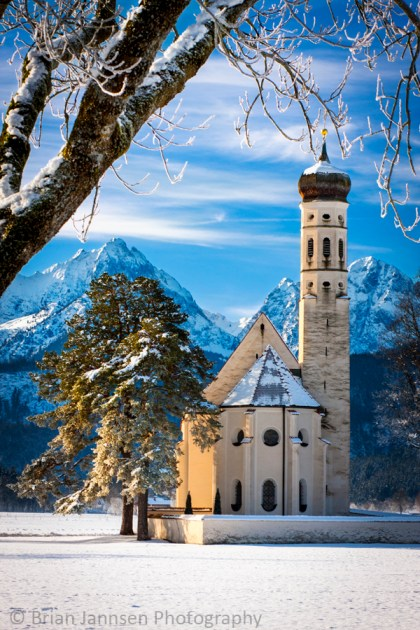 Saint Coloman Church near Fussen, Bavaria Germany