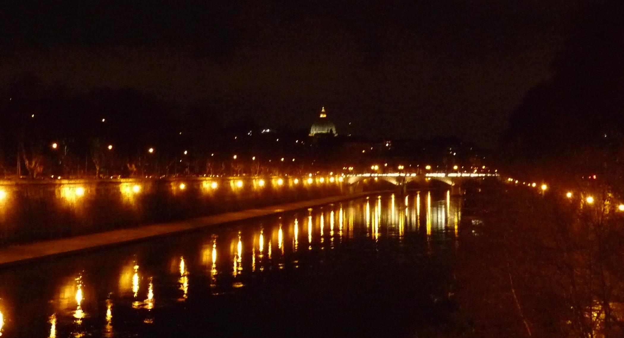 St. Peter's Basilica, night.