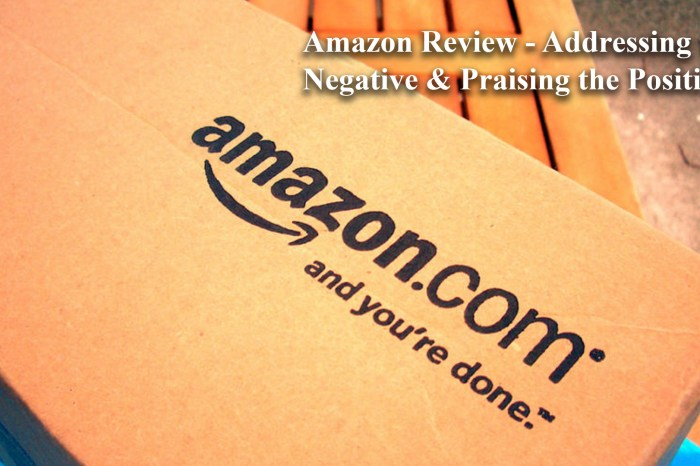 Amazon Reviews – Addressing the Negative & Praising the Positive