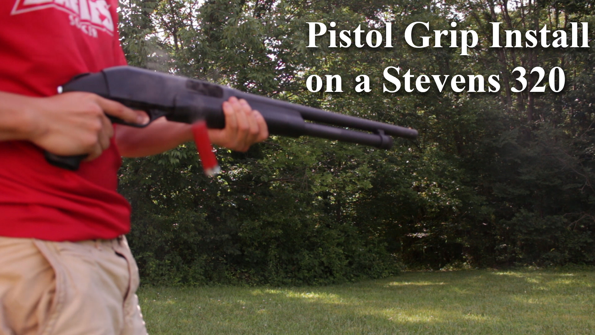 How to Install a Pistol Grip on a Savage Arms Stevens 320 shotgun