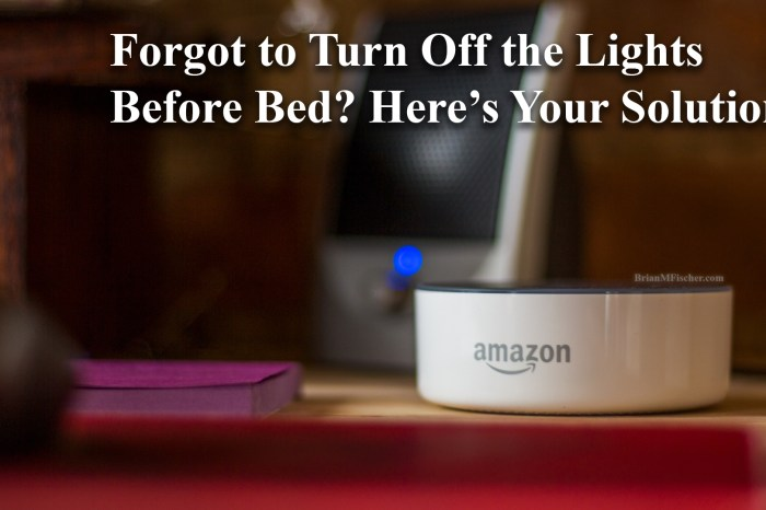 Forgot to Turn Off the Lights Before Bed? Here's your Solution.