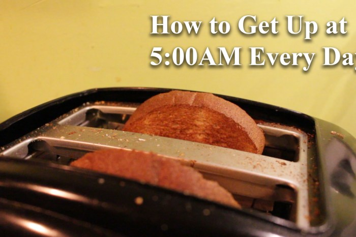 How to Get Up at 5:00 AM Every Day (Est. Investment ~$60)