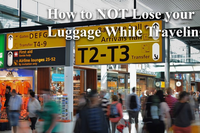 How to NOT Lose your Luggage While Traveling