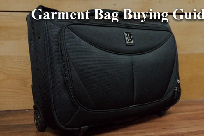 Garment Bag Buying Guide