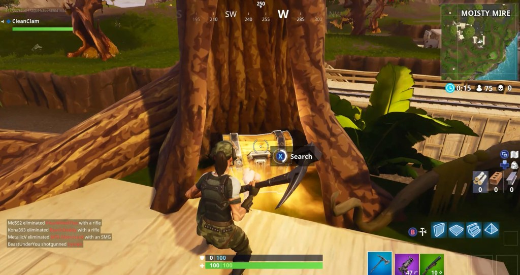 Finding A Chest in Fortnite