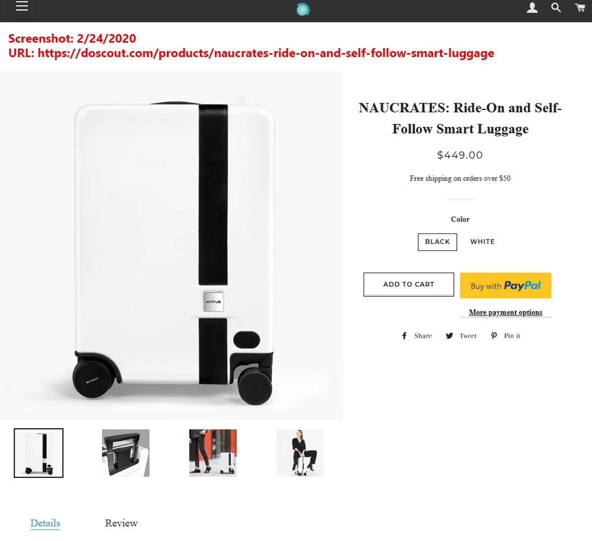 naucrates doscout.com screenshot scam