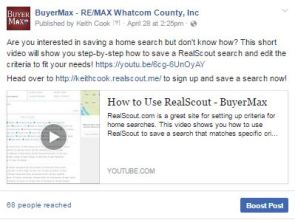 Facebook Content - RealScout How-To Video