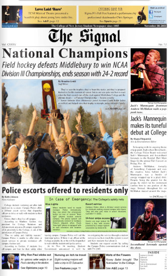 The Signal Front Page.