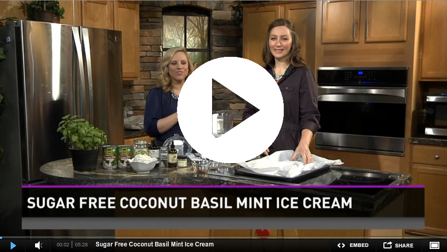 : Recipe : Sugar Free Coconut Basil Mint Ice Cream