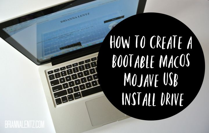 How to Create a Bootable Mac OS Mojave USB Install Drive