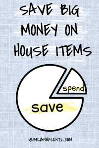 SAVE Big Money on House Items Graphic