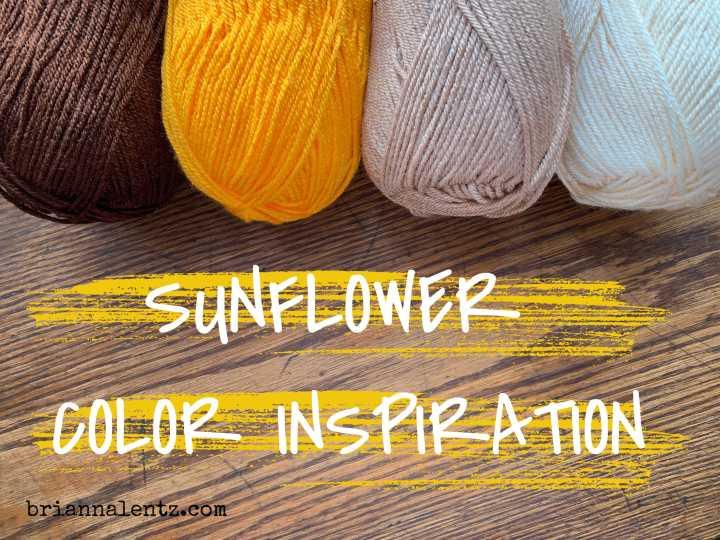 Crochet Sunflower Blanket Color Inspiration
