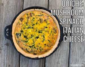 Recipe Mushroom Quiche A