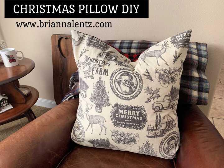 Christmas Pillow DIY