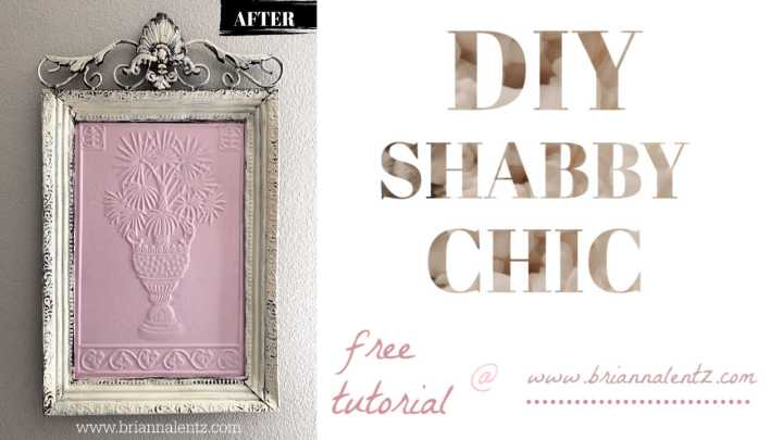 DIY Shabby Chic Home Decor Upcycle | Brianna Lentz