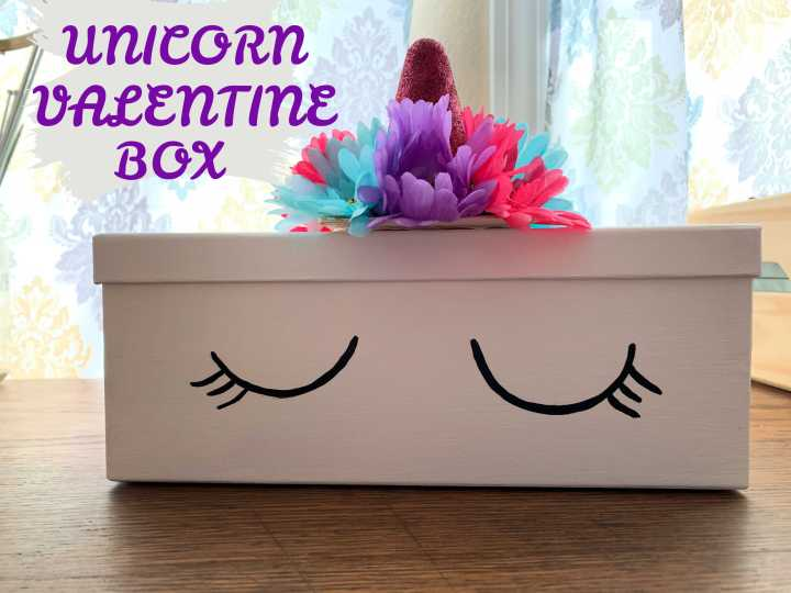 DIY Unicorn Valentine Box Free Tutorial with Brianna Lentz
