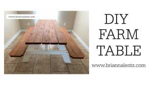 DIY Farm Table YouTube Thumbnail