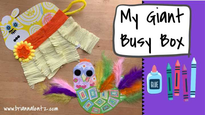 My Giant Busy Box | DIY Activities With Kids