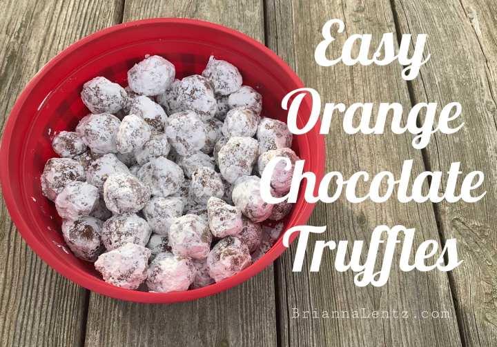 Easy Orange Chocolate Truffles Recipe
