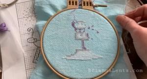 Brianna Lentz Free Snowman Chart December Durene Jones Cross Stitch 2020