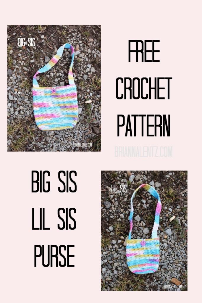 Big Sis Lil Sis Crochet Purse Free Crochet Pattern Main Image