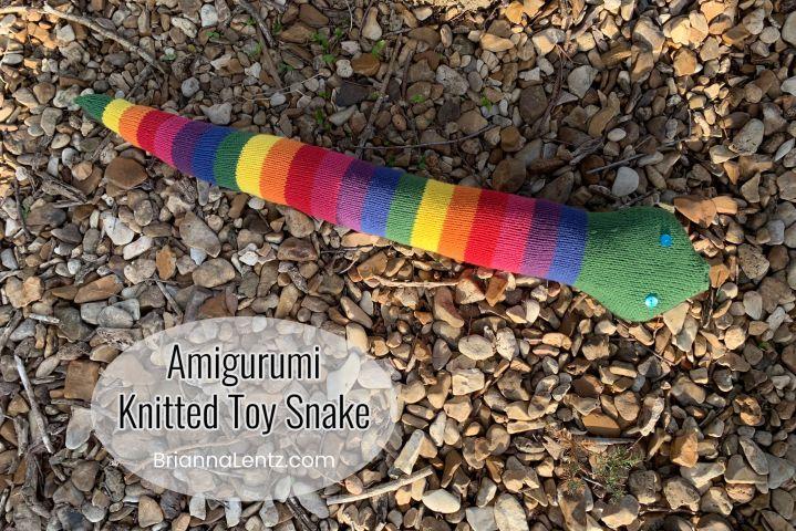 Rainbow Amigurumi Knitted Snake